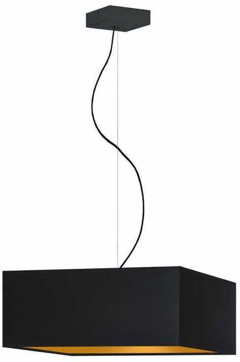 Lampa wisząca glamour z czarnym stelażem - EX360-Sangriv - 5 kolorów