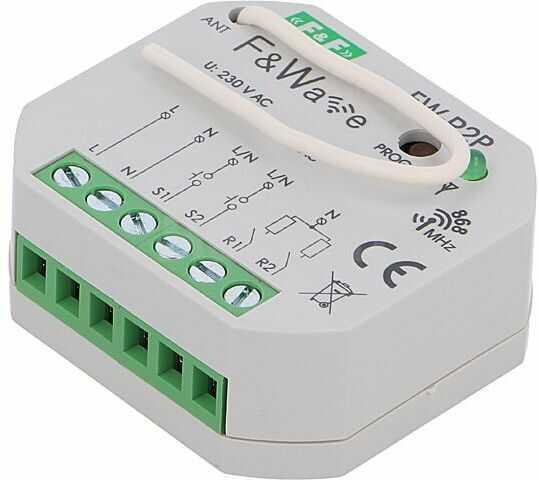 Przekaźnik instalacyjny F&F bistabilny NO x2 Montaż dopuszkowy