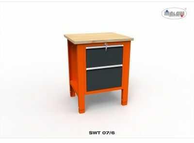 """Stół warsztatowy SWT 07/06 """"JEDYNKA"""" 2 szuflady zamykane na klucz"""