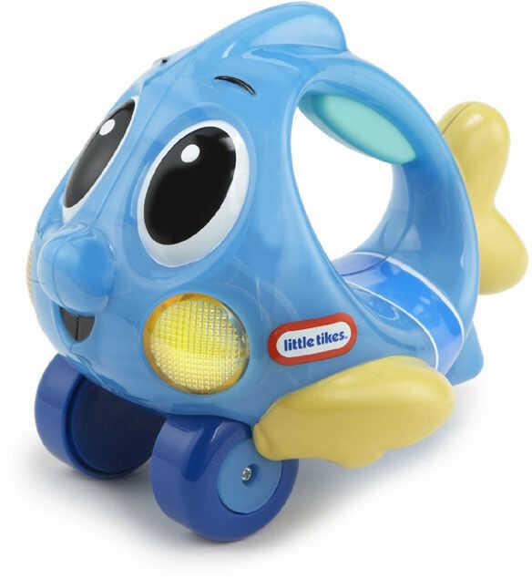 Little Tikes - Mały Ocean Świecąca rybka na kółkach Niebieska 639722 638527