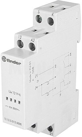 Przekaźnik instalacyjny FINDER bistabilny SPDT + SPST-NO 12VAC 8A