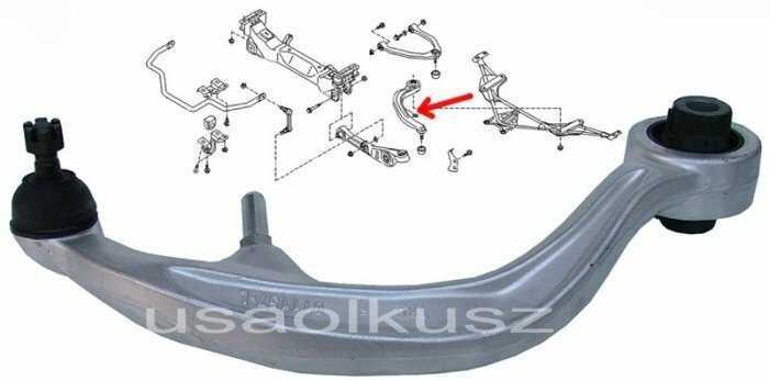 Wahacz przedni dolny lewy tylny Infiniti G35 2003-2007