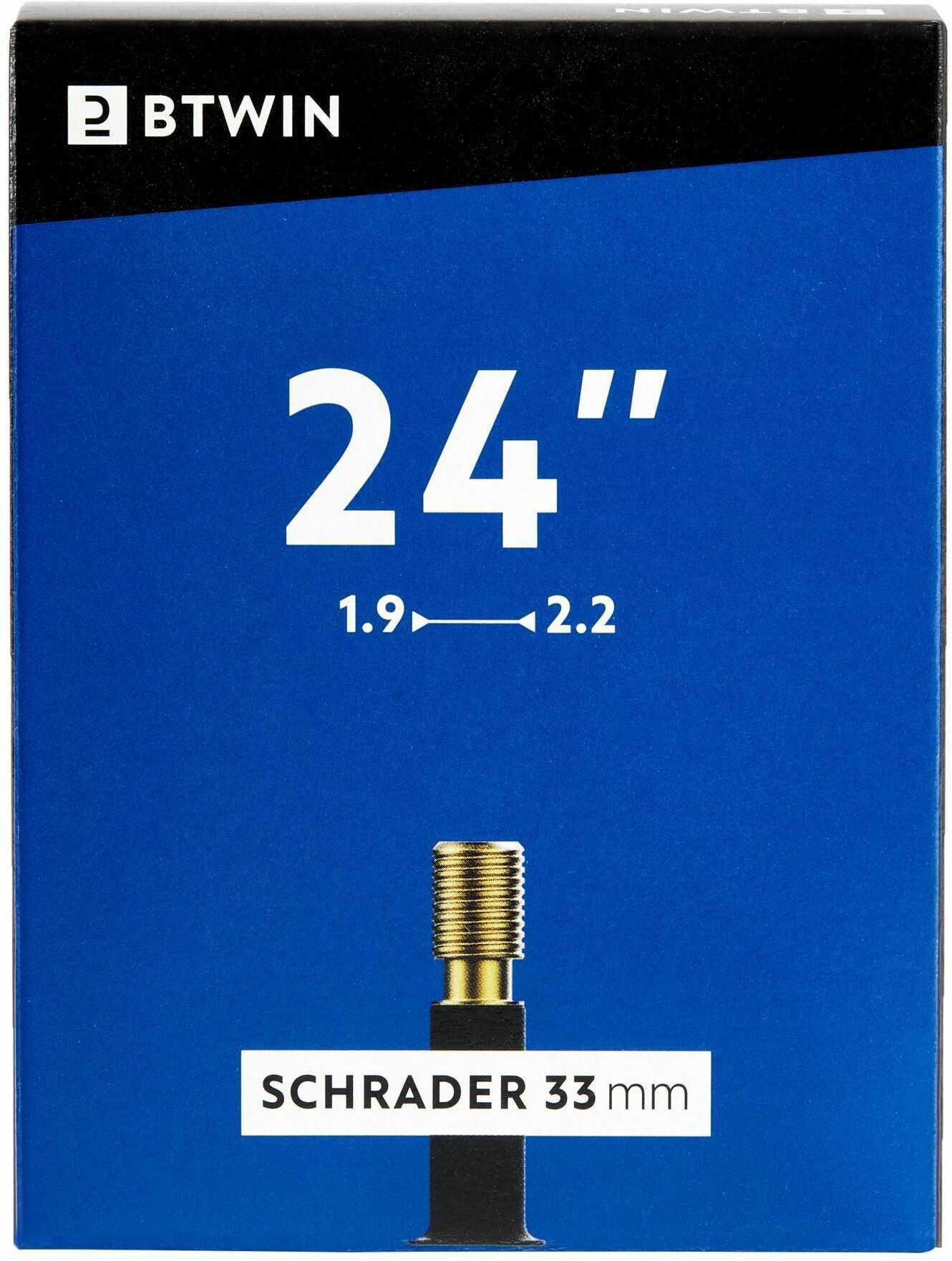 """Dętka Rowerowa 24""""X1,9-2,2 Z Wentylem Schrader"""