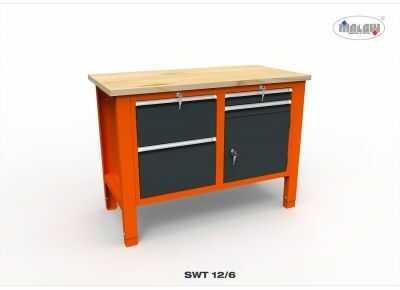 Stół warsztatowy na narzędzia SWT 12/06 DWÓJKA blat 450 kg 1245mm