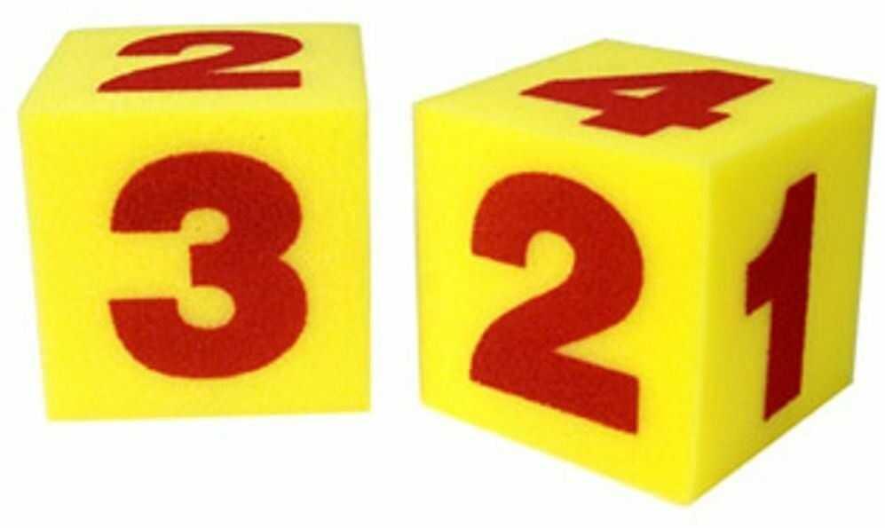 Learning Resources Ogromne miękkie kostki liczbowe (zestaw 2 szt.)
