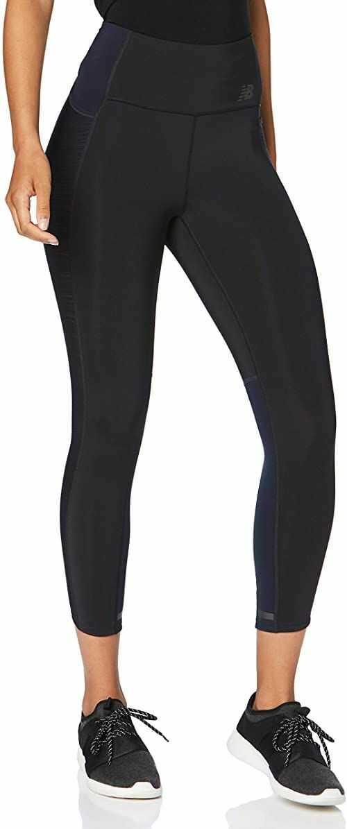 New Balance damskie spodnie Speed Tight  czarne, srebrne czarny czarny S