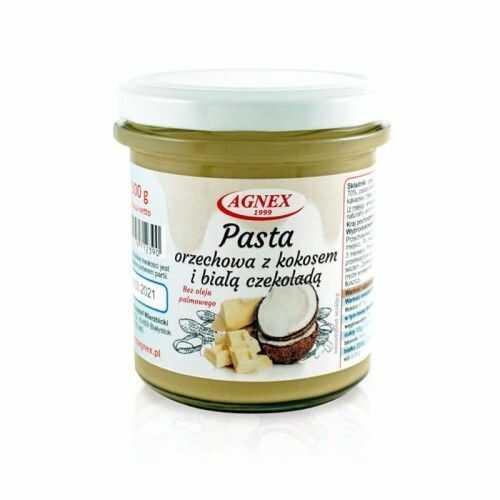 Pasta orzechowa z kokosem i białą czekoladą 300 g