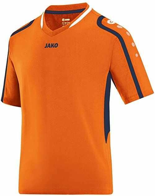 Jako Męska koszulka siatkówka, męska 4197, pomarańczowa, morska, Weiß, XL