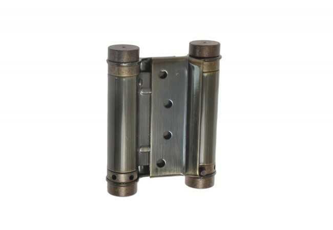 Zawias sprężynowy wahadłowy 75 mm patyna