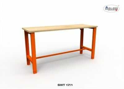 Stół warsztatowy SWT 17/01 TRÓJKA z blatem roboczym nośność 600 kg