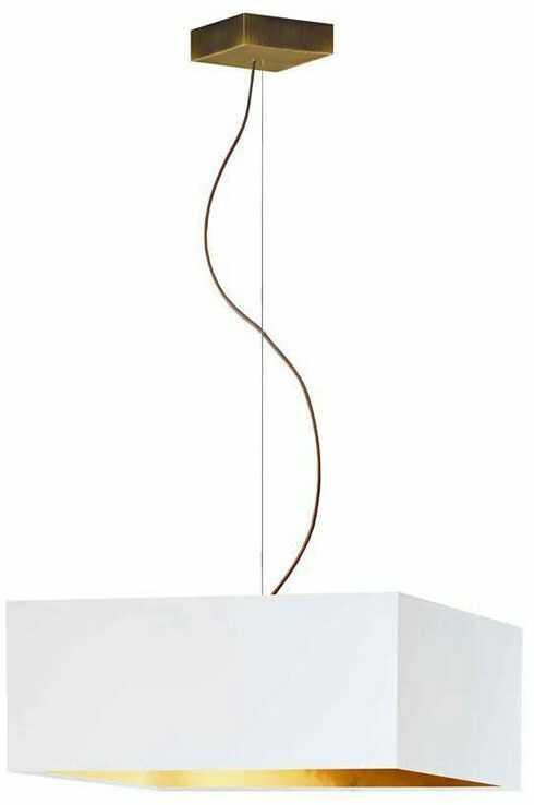 Kwadratowa lampa wisząca ze złotym stelażem - EX363-Sangriv - 5 kolorów
