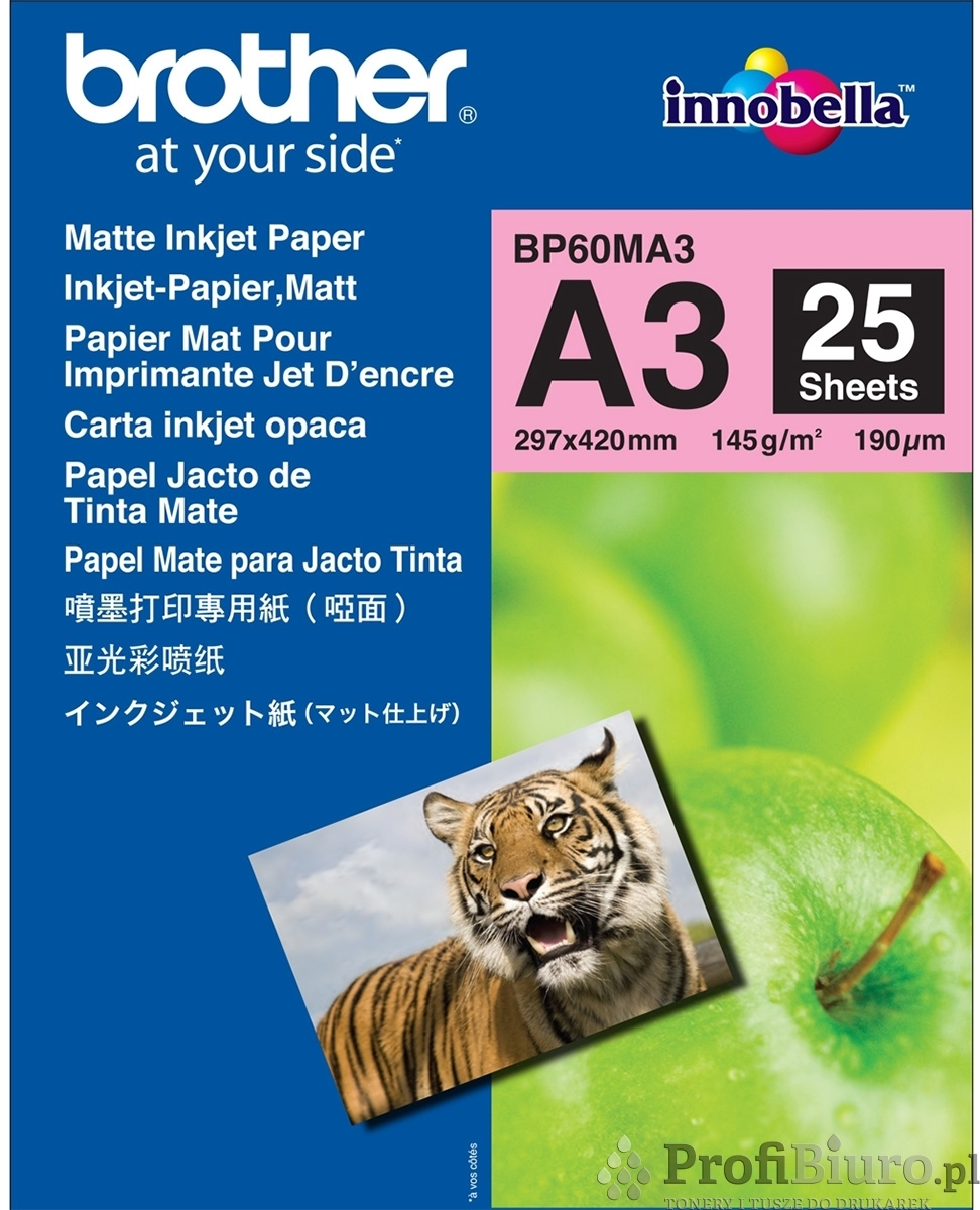 Papier Brother BP60MA3 Matowy - 145 g/m2 - A3 - 25 szt.
