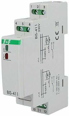 Przekaźnik instalacyjny F&F bistabilny SPDT Montaż DIN 16A IP20
