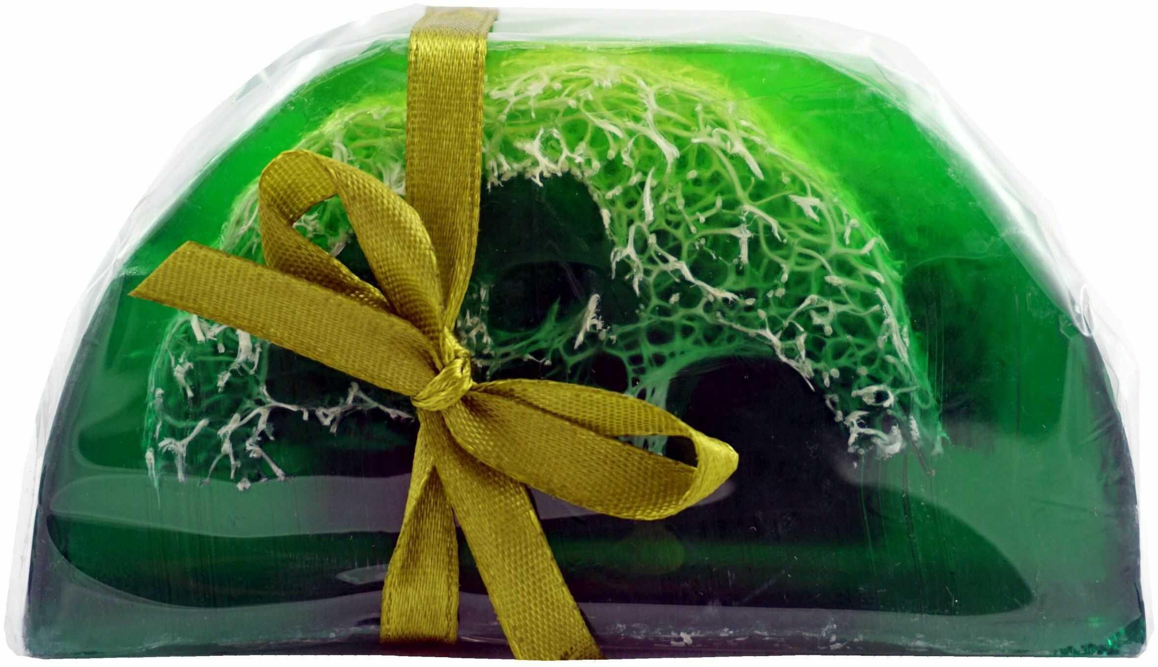 Mydło Glicerynowe z gąbką Loofah - Zielona Herbata - 100g - Lavea
