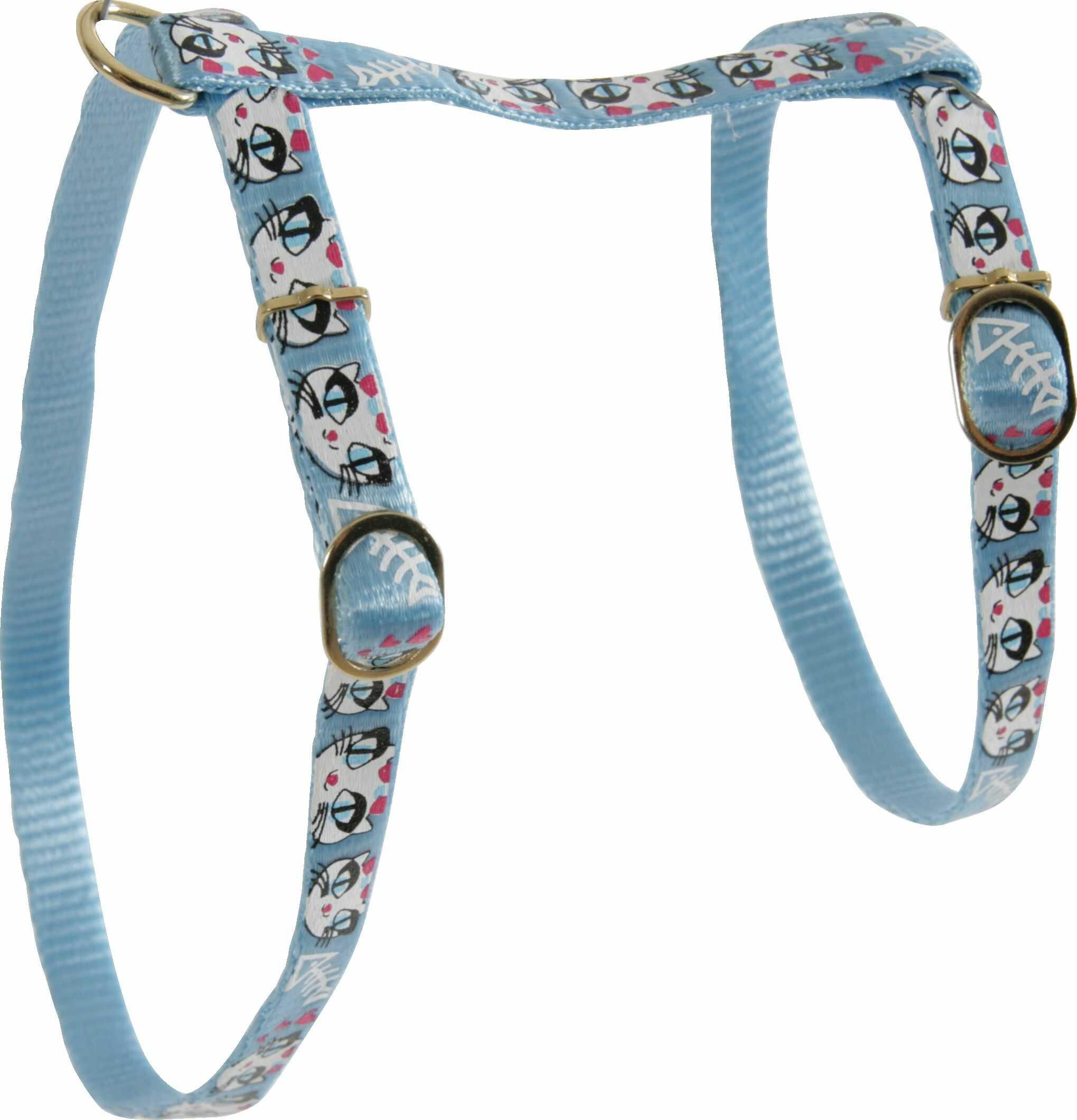 Zolux Szelki nylonowe dla kota Ladycat 10 mm kol. niebieski