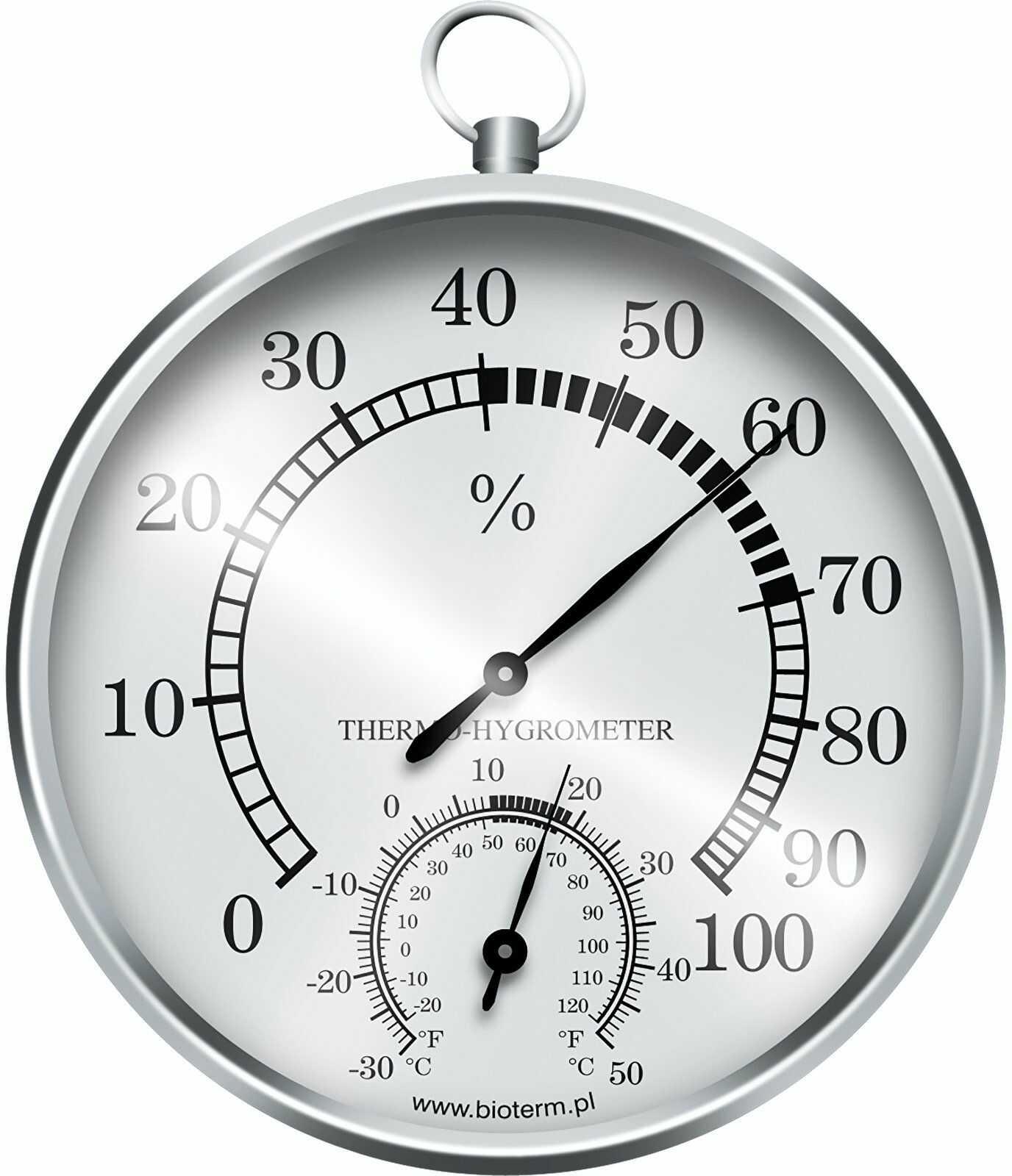 Termometr / higrometr (srebrne)