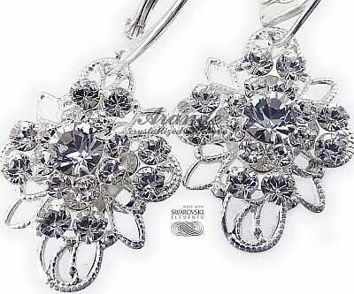 Swarovski Ślub Kolczyki Crystal Venue Srebro
