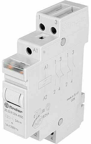 Przekaźnik instalacyjny FINDER bistabilny SPST-NO + SPST-NC 16A