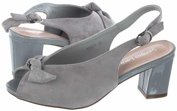Sandały Sergio Leone Szare SK801 (SL291-a)