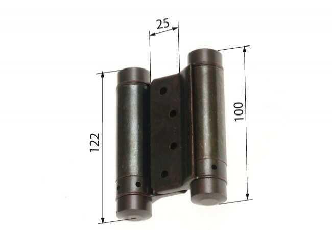 Zawias sprężynowy wahadłowy 100 mm patyna