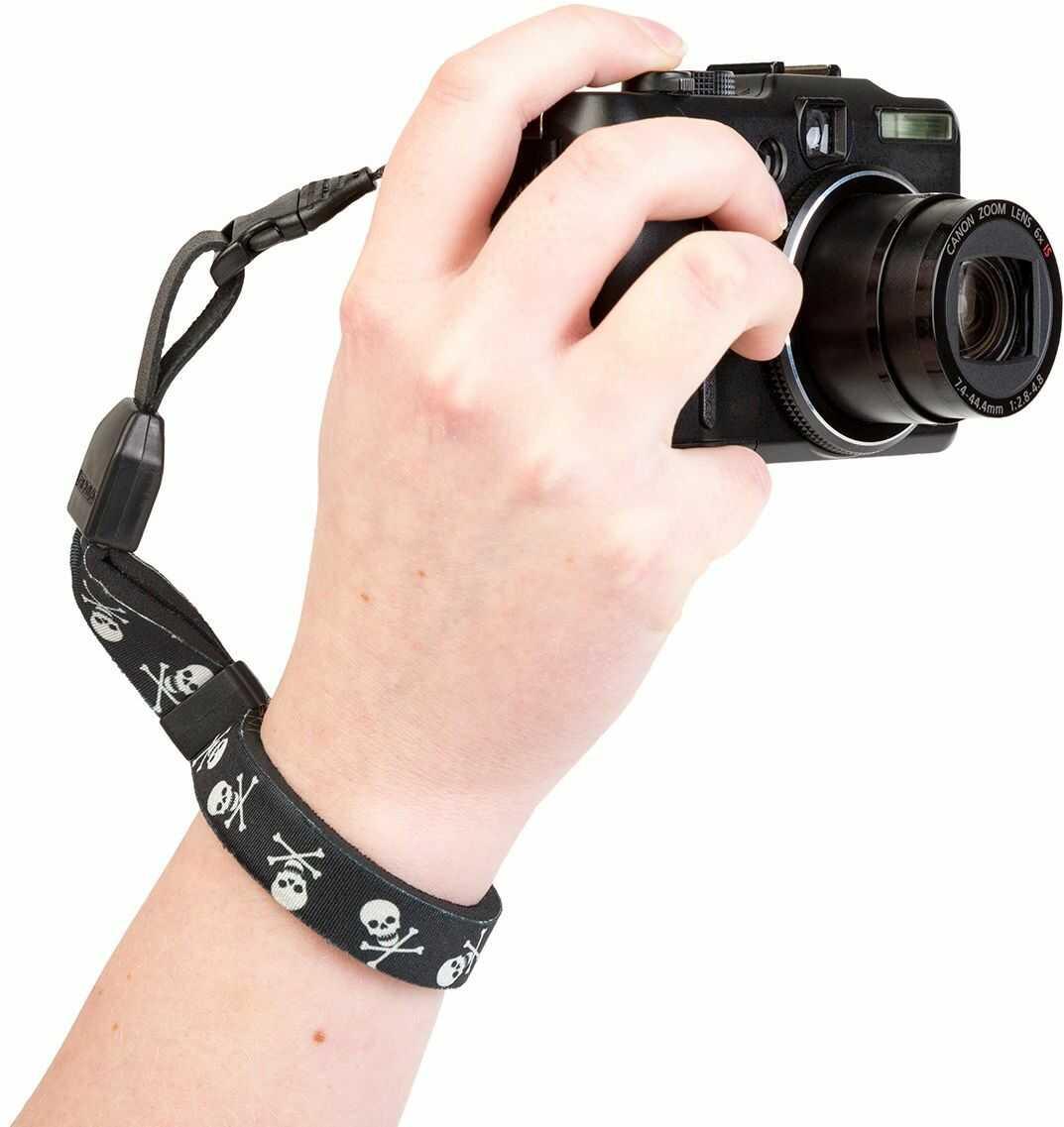Optech USA 1822021 pasek do noszenia do aparatów cyfrowych, czaszka, czarny