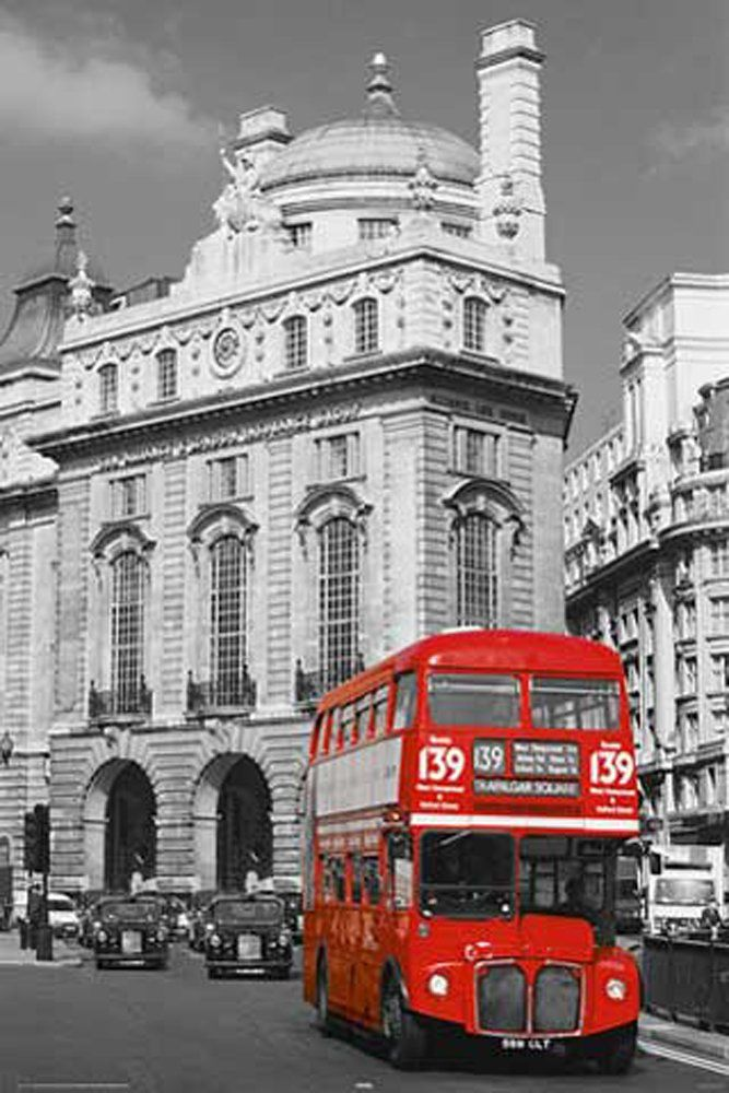 empireposter - Londyn - Red Bus colourlight - rozmiar (cm), ok. 61x91,5 - plakat, nowy -