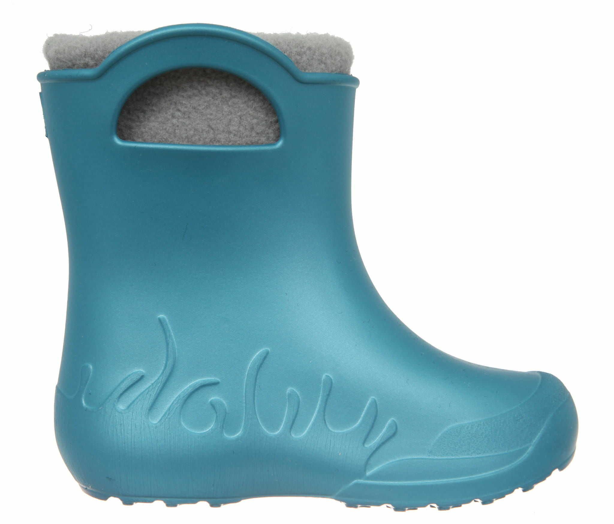 ZETPOL kalosze dziecięce EVA Frog Metalic Blue wkład ocieplający