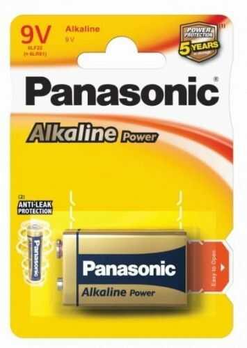 1 x Panasonic Alkaline Power 6LR61 / 9V (blister)