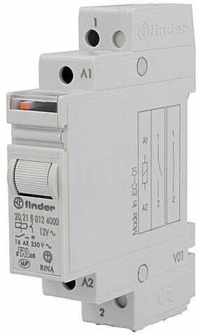 Przekaźnik instalacyjny FINDER bistabilny SPST-NO 12VAC Montaż DIN