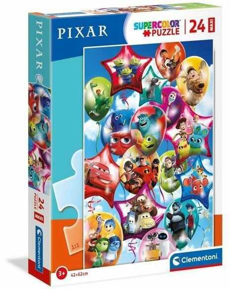 Puzzle 24 Maxi Super Kolor Pixar Party - Clementoni