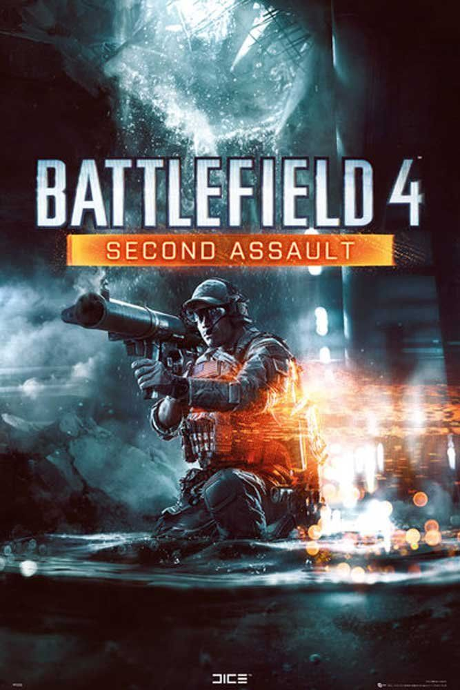 Empire Merchandising 635273 Battlefield 4 Second Assault Games Gry plakat gamingowy rozmiar 61 x 91,5 cm