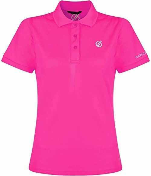 Dare 2b Damski zestaw Forth Polo lekka koszulka sportowa dla kobiet różowy różowy. FR : XS (Taille Fabricant : 8)
