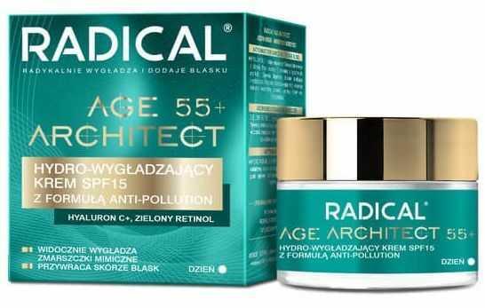 RADICAL AGE ARCHITECT 55+ Hydro-wygładzający krem SPF15 z formułą anti-pollution, na dzień, 50ml
