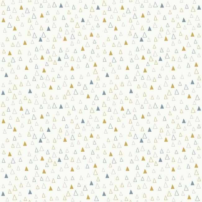 Tapeta papierowa Spicata żółte trójkąty