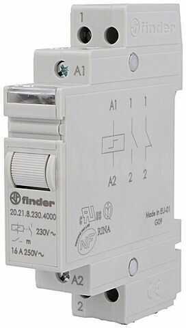 Przekaźnik instalacyjny FINDER bistabilny SPST-NO 230VAC Montaż DIN