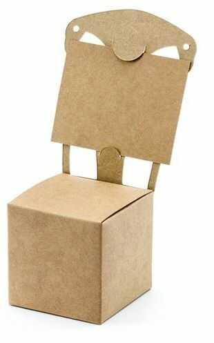 Pudełeczka dla gości krzesełka z winietką kraftowe 10 sztuk PUDP7-031
