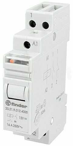 Przekaźnik instalacyjny FINDER bistabilny SPST-NO Ucewki :12VDC