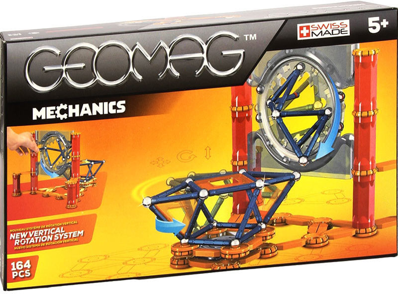 GeoMag Klocki magnetyczne - Mechanics 164 el. 724