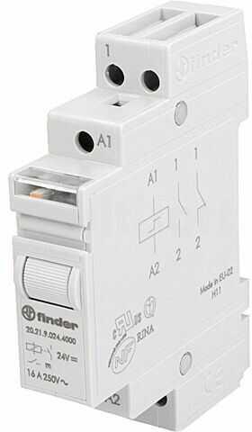 Przekaźnik instalacyjny FINDER bistabilny SPST-NO Ucewki :24VDC
