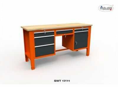 Stół warsztatowy SWT 17/11 na narzędzia 1765mm nośność 600kg klucz