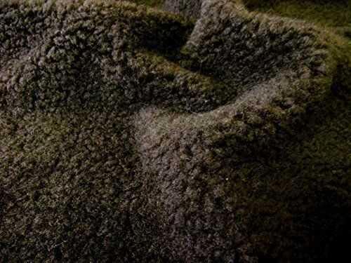 Sztuczne futro SHERPA FLEECE materiał z owczej skóry - CZEKOLOWY