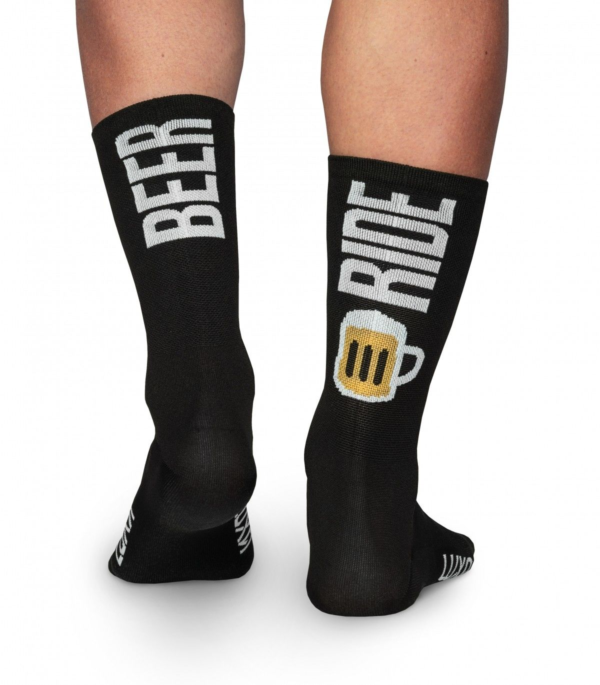 Profesjonalne skarpety kolarskie BEER RIDE - wysokie, czarne