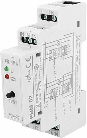 Przekaźnik instalacyjny ZAMEL bistabilny SPST-NO Ucewki:230VAC