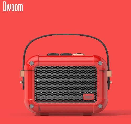 Divoom Macchiato Red Stylowy przenośny głośnik BT z radiem FM +9 sklepów - przyjdź przetestuj lub zamów online+