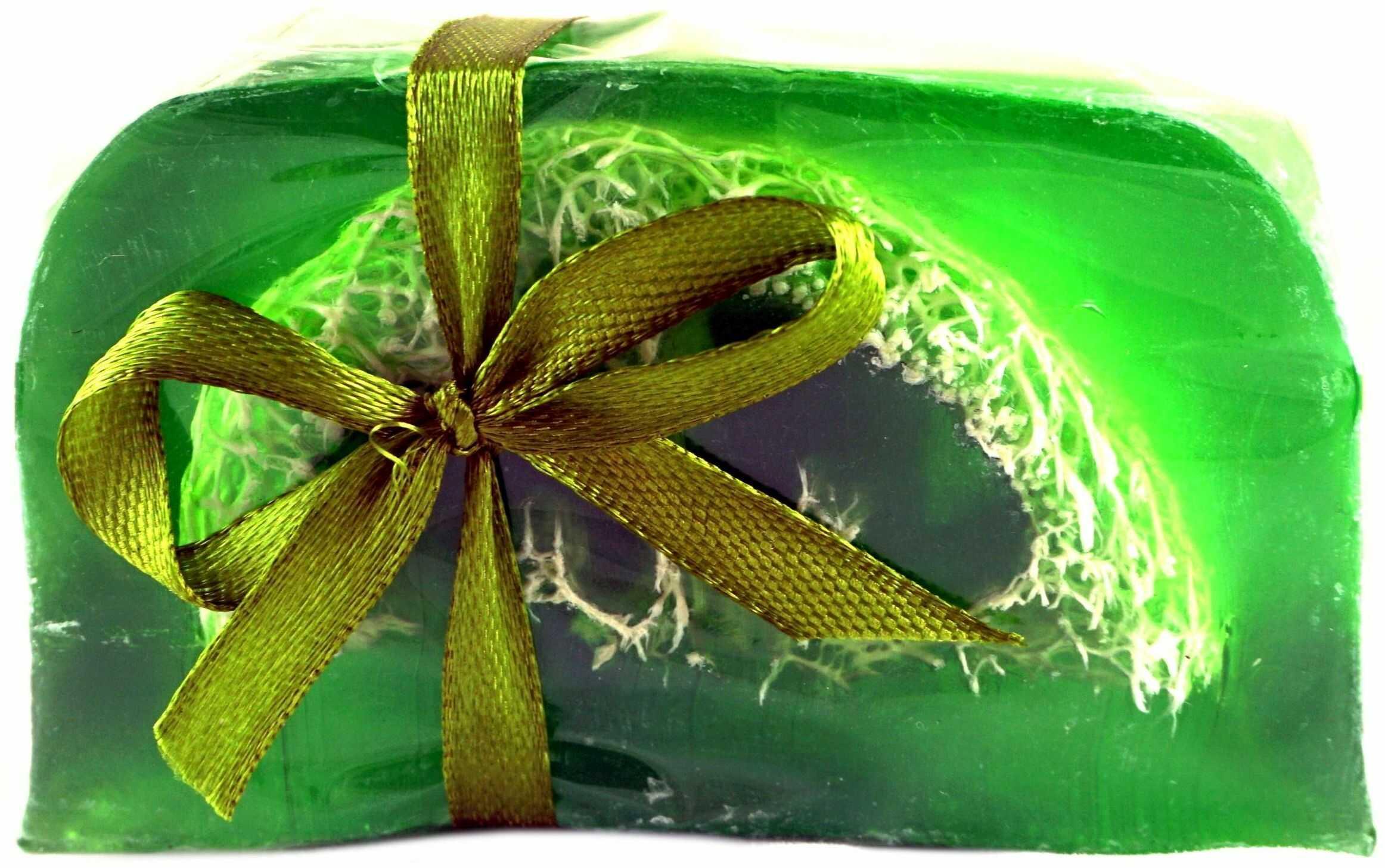 Mydło Glicerynowe z gąbką Loofah - Lemongrass - 100g - Lavea