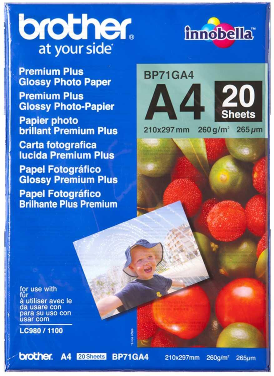 Papier fotograficzny Brother BP71GA4 błyszczący A4 20szt. 260g/m2