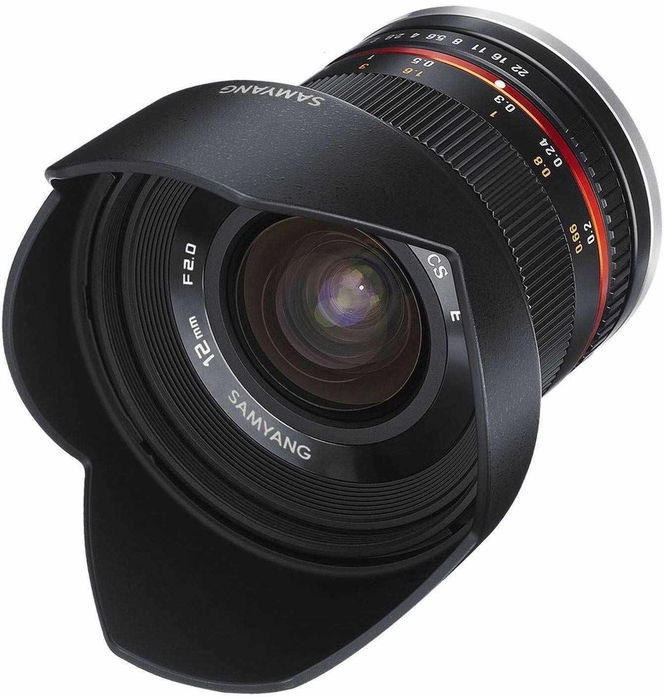 Samyang 1220506101 Obiektyw, 12 mm Czarny Odpowiedni dla Sony E