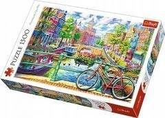 Puzzle TREFL 1500 - Kanał Amsterdaski, Amsterdam Canal