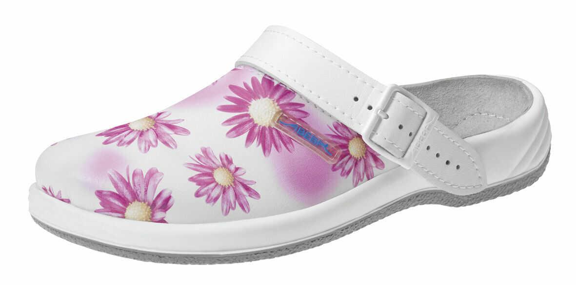 Klapki damskie ABEBA ARROW kwiaty