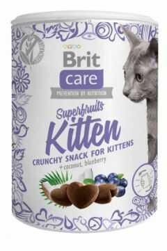 Brit Care Snack Superfruits Kitten Kurczak Kokos Borówka 100 g